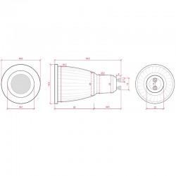 Esquema Bombilla led COB Gu10 7W 500Lm