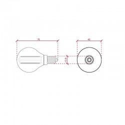 Esquema Bombilla led E-14 filamento G45 4W 400Lm