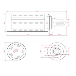 Foco tipo R7S rectangular 48W