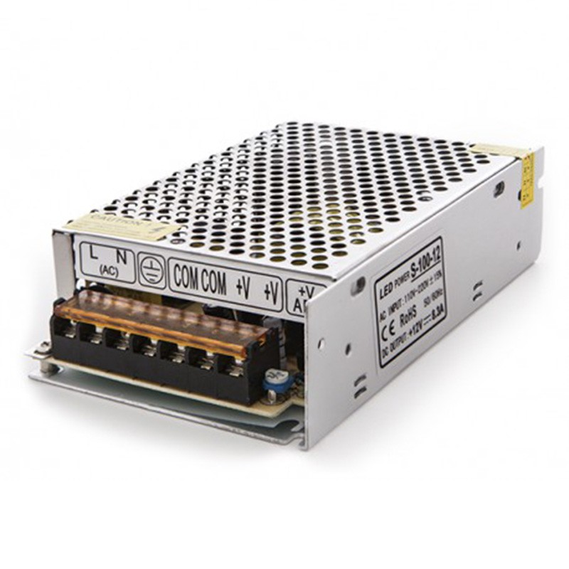 Transformador metálico 12v 100W 8,5A IP25