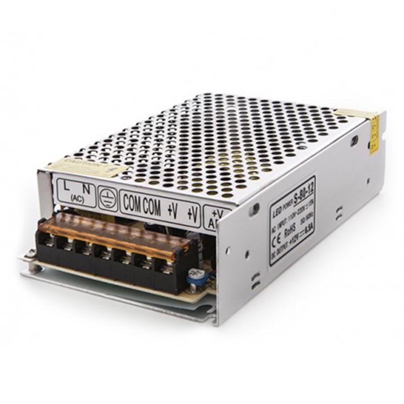 Transformador metálico 12v 80W 6,5A IP25