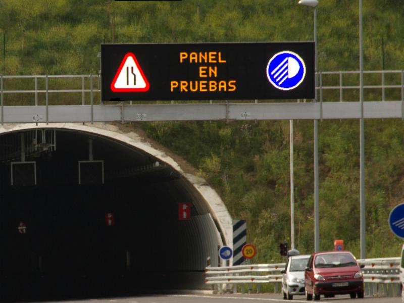 panel de carretera