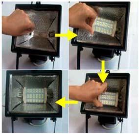 Cambiar una bombilla halógena lineal por una bombilla LED R7s