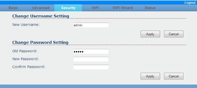 Cambiar user y password del controlador led wifi