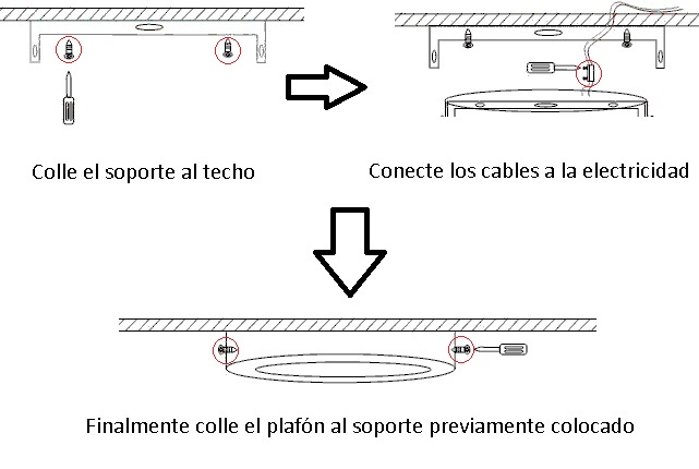 Como instalar un plafón LED