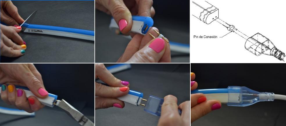 como conectar flex neon